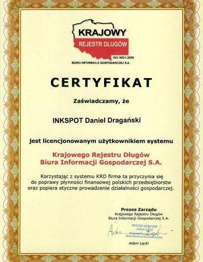 Certyfikat KRS