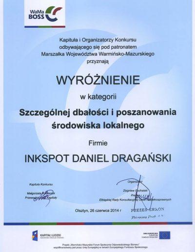 Dyplom WaMaBOSS