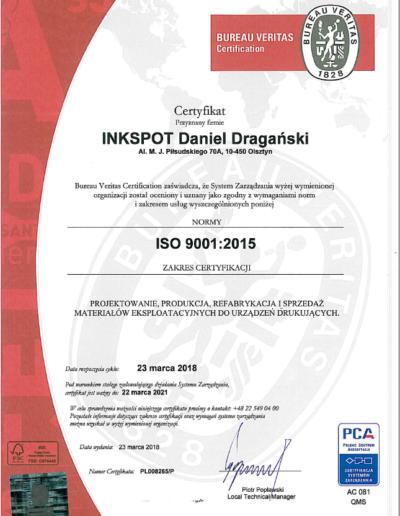 certyfikat 9001