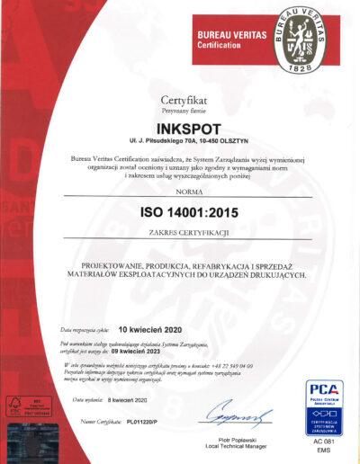 certyfikat iso 14001 aktualny